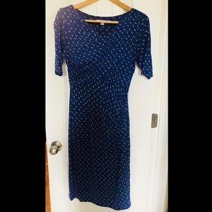 Boden Blue Knit Dress